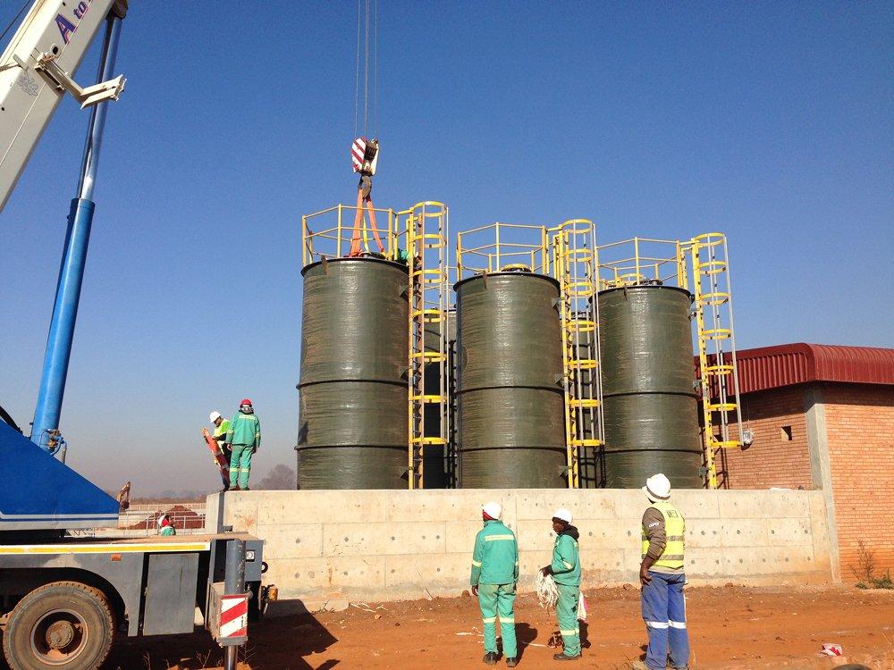 Grp Chemical Water Storage Amp Process Tanks Mosden Fibre