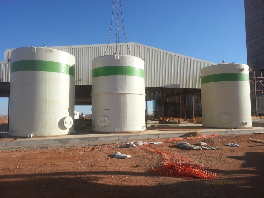 GRP CHEMICAL/WATER STORAGE & PROCESS TANKS | Mosden Fibre